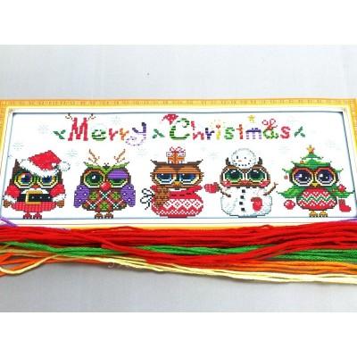 Christmas Owls Cross Stitch...